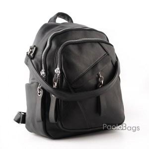Дамска раница с 2в1 и чанта черна 26063