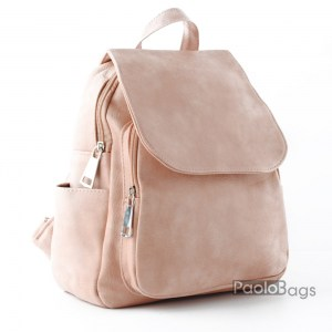 Розова дамска раница кожена модел номер 26093