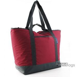 Голяма плажна чанта модел 26437 бордо винено червена