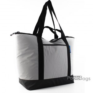 Голяма плажна чанта модел 26437 сиво и черно