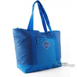 Голяма плажна чанта модел 26437 синя