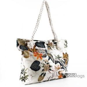 Голяма плажна чанта модел 26445 шарена цветна