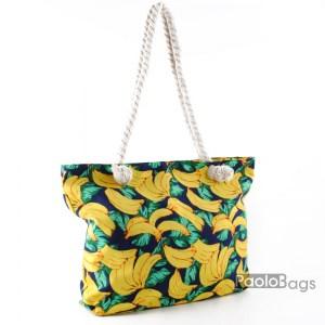 Голяма плажна чанта модел 26447 шарена цветна