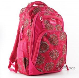 Ученическа раница евтина с джобове 26477 розова