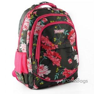 Ученическа раница евтина с цветя 26503