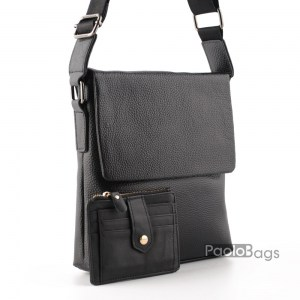 Луксозна мъжка чанта с една втора капак